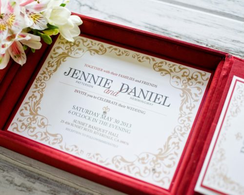 Boxed invitations, wedding invitations, luxury invitations, custom invitations